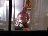 Blonde Mature Is Captured On Hidden Cam Masturbating In Living Room