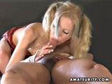 Amateur Blonde GF Takes Facial After Pussy And Anal Fuck