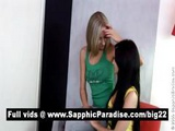 Adorable Brunette And Blonde Lesbians Licking Pussy And Having Lesbian Love