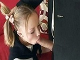 Blonde Girl Knows How To Reward Father's Friend For His Help
