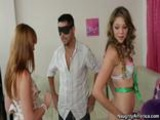 Jessie Andrews And Marie Mccray Surprise Guy On Birthday With Threesome