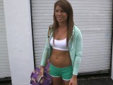 Fit girl fucks for money in the bangbus