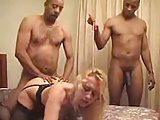 White wife black gang bang