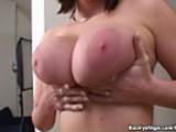 Busty Deny and her creamshow