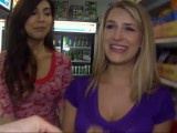 Desperate college girls fucks store clerk