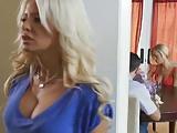 Gorgeous blond mommy fucks her daughter's boyfriend