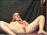 Camgirl fingers ass with dildo in pussy