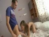 Teen First Time Sucking Her Boyfriend