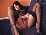 Trixy teasing and sucking in stockings