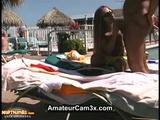 Hot Sex In Public Poolside