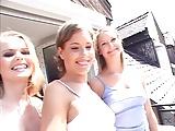 3 Czech girls with 3 blacks
