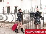 Two posh ladies banging the bellboy
