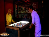 Blonde Teen Gets Fucked After Losing The Game At The Bar