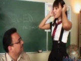 Nadia Aria Gets Fucked In The Classroom
