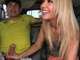 Banging tiny blonde in the backseat