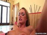 Blonde Hottie Aline Enjoys That Big Black Dong