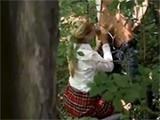 Naughty Schoolgirl Caught Fucking In The Woods
