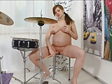 pregnant -Fucking Myself with a Drum Stick!