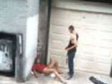 Drunk hooker fuck attempt in alley