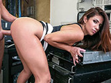 Cutie at work bent over for me