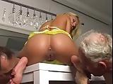 two slaves worship beautiful mistress