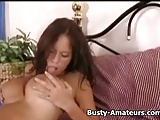 Busty Wenys fingering her pussy on her first solo act