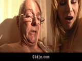 Sweet Girl Sharing Her Fresh Pussy With An Old Man