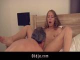Horny Blonde Teen Seduces Old Plumber