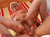 Sexy Short Haired Granny With Hairy Pussy