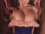 Hot MILF takes two cocks in all holes