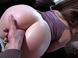 Finger barely fits, let's try dick!
