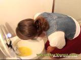 Overeating Girl Toilet Vomit Puke Puking - Vomit Videos