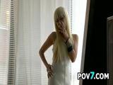 Blonde Asian Babe Smoking