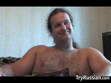 Lactating Russian Fills Up A Glass