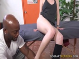 Aria Alexander Tempts Her Black Trainer Into Fucking Her
