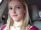 Blonde Teen Hitchhikes And Nailed In The Car
