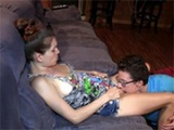 Horny Girl Lets Her Nerdy Friend With Glasses To Pleasure Her Cunt