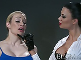 BDSM XXX Horny sub with massive tits lets Mistress into her