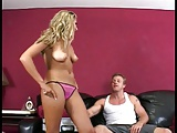 Blonde hottie banged by a hunk