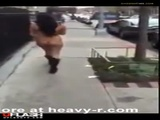 Forced Public Nudity On Busy Street - Outdoor Videos