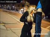 Downtown Blow Job ends with Facial   - Public Videos
