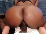 Thick black girl rides your dick on POV webcam (no sound)