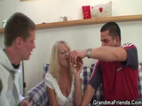 Drinking Leads To Threesome Orgy With Granny