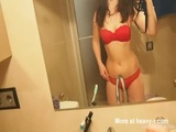 Self Shot Striptease And Masturbation - Solo Videos