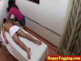 Asian masseuse pussyfucked by client