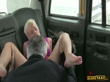 Super hot tourist is having sex with the driver inside the cab