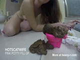 Pink Potty Fill Up - Scat Videos