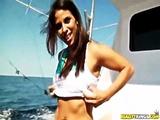 Latin Brunette Strips Off Bikini On Rocking Boat To Bang Milf Hunter For Reality Kings