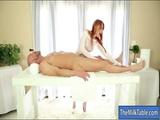 Redhead masseuse Marie Mccray sucks cock