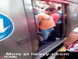 Dick Jammed In Subway Door - Funny Videos